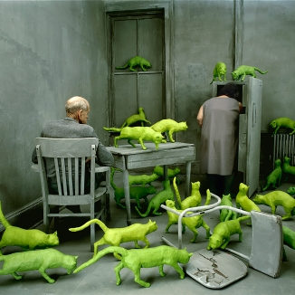 Sandy Skoglund, Radioactive Cats, 1980