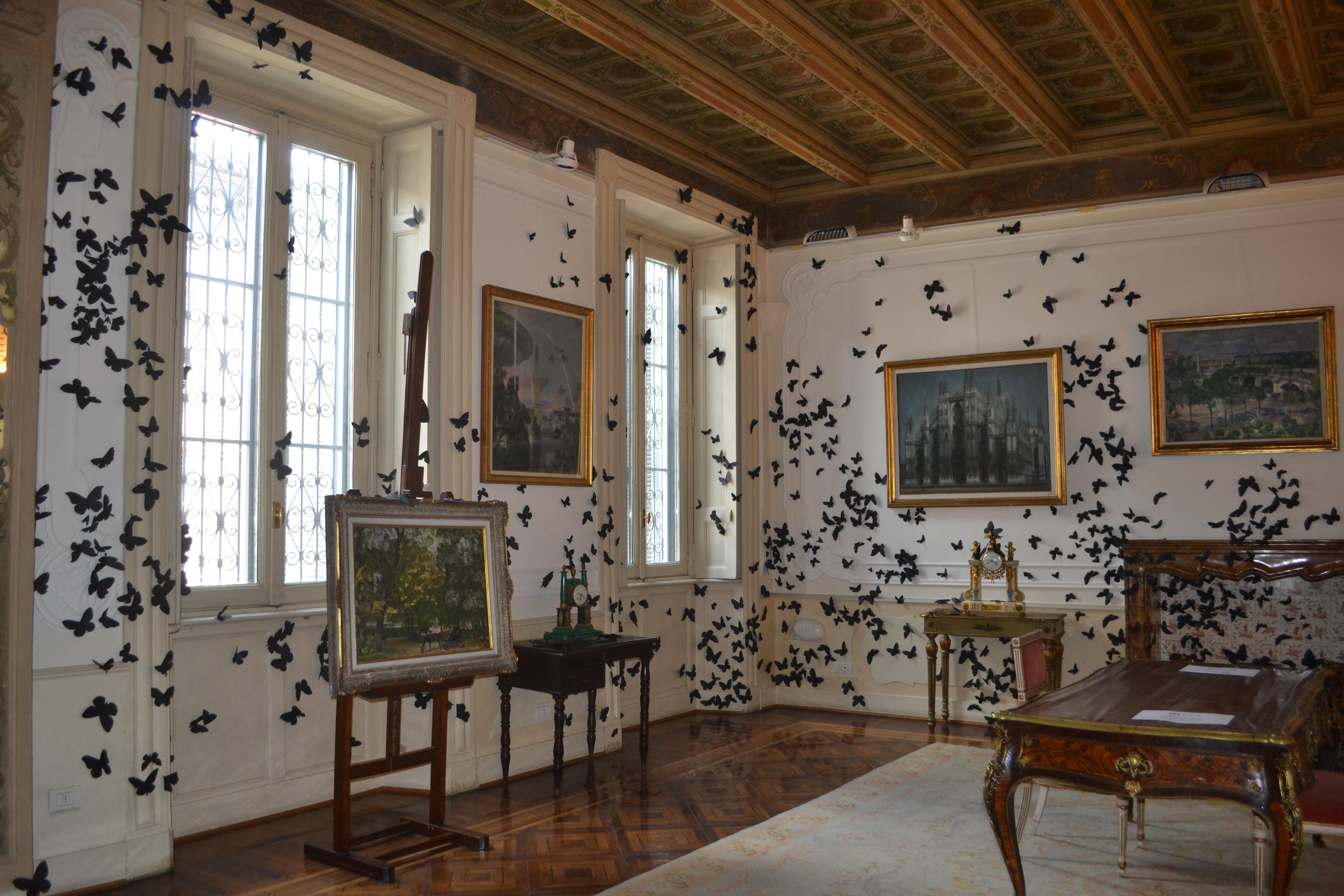 Black Cloud nelle sale della Fondazione Pini