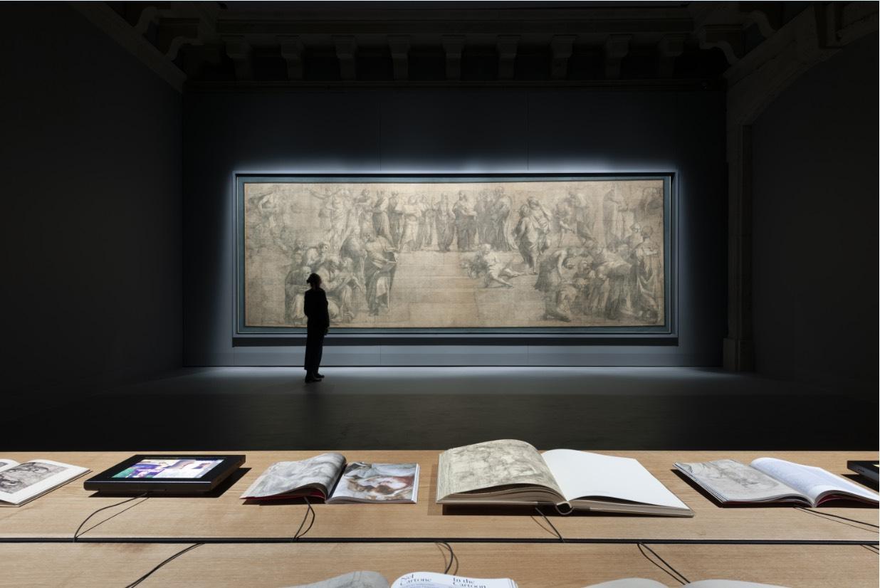 Raffaello Sanzio, Cartone preparatorio La scuola di Atene, Pinacoteca Ambrosiana