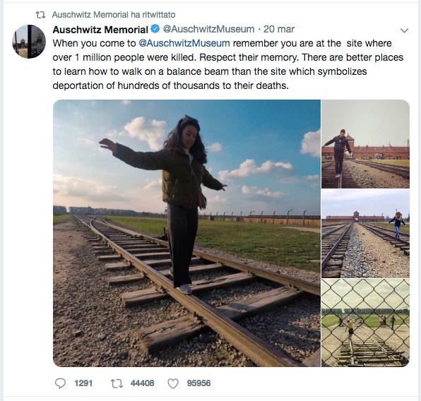 Tweet, Official Page Auschwitz Memorial