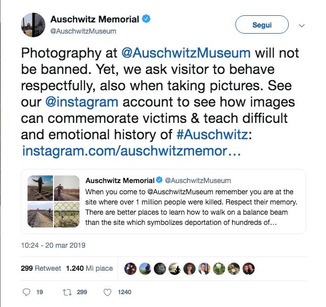Tweet Official Page Auschwitz Memorial