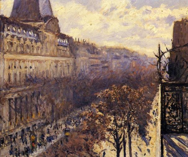Gustave Caillebotte, Boulevard des Italiens. Olio su tela, 54 x 65. 1880 c.a. Parigi.